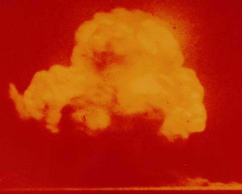 The famous photo of the Trinity test, taken by Jack Aeby.