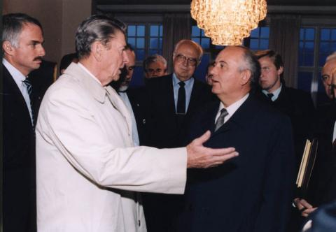 Reagan and Gorbachev at the Reykjavik Summit