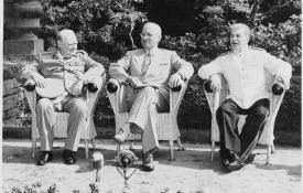 Churchill, Truman, and Stalin at Potsdam