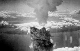 The mushroom cloud over Nagasaki