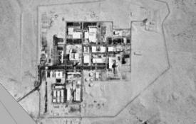 An American satellite image of the Dimona nuclear complex, 1968