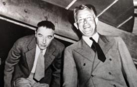 J. Robert Oppenheimer and Ernest Lawrence