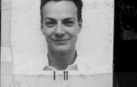 Richard Feynman's Los Alamos ID badge photo