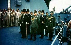 The Japanese surrender aboard the USS Missouri