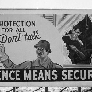 A security billboard at Hanford