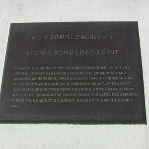 Fat Man bomb pit plaque (Photo courtesy of Alex Boxer)
