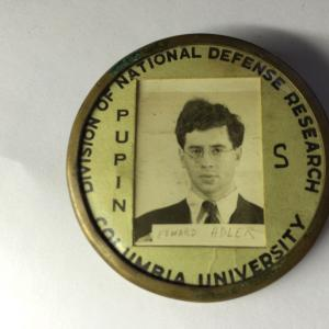 Edward Adler's Columbia University Identification Badge