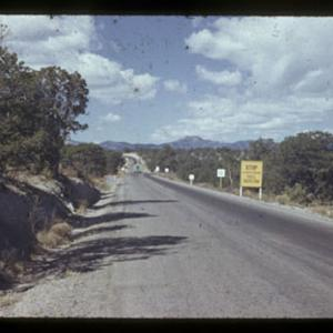 Entrance to Los Alamos Oct. 1945