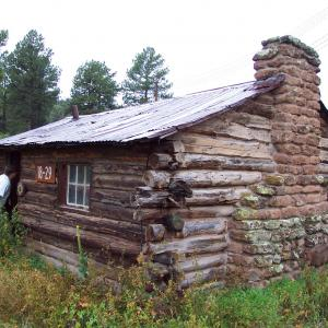 The Pond Cabin at Los Alamos. Photo courtesy of Ellen McGehee, LANL.
