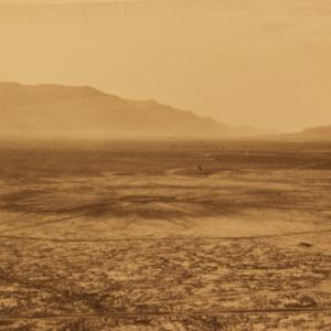 The Trinity site after the explosion with the crater