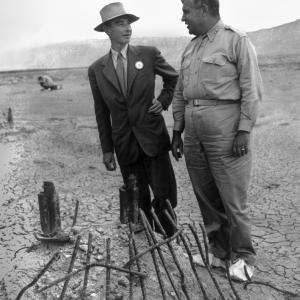General Leslie R. Groves and J. Robert Oppenheimer after the successful Trinity test
