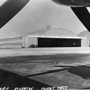 Wendover Field, B-29 Hangar 20 Sept 1945, Southeast corner looking Northwest
