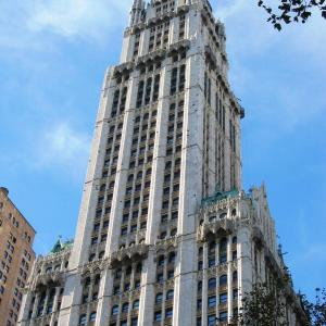 The Woolworth Building in NYC. Photo courtesy of Aude, Wikimedia Commons.