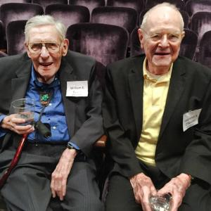 William E. Tewes and Lawrence S. O'Rourke at AHF's 70th anniversary events in June 2015