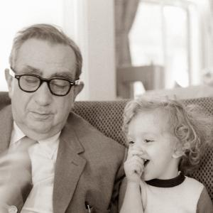 Edward Teller with his grandson, Astro
