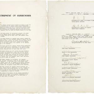 The Instrument of Surrender