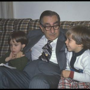 Edward Teller reading to his grandsons, Astro and Zander Teller