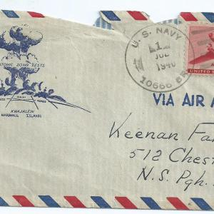 Envelope mailed from Dick Kennan to his family
