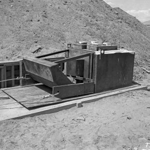 800 West Fastax Sled at Trinity Site