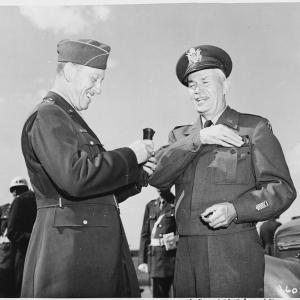 Generals Somervell and Hoag at the Potsdam Conference
