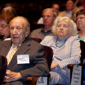 Veterans in the audience listening to the opening remarks