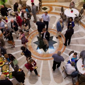 The reception took place in the Carnegie Institution for Science's beautiful rotunda and ballroom