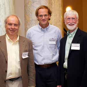 Henry Frisch, James Nolan, and Andrew Hanson at the Atomic Heritage Foundation's Manhattan Project 70th anniversary events in June 2015
