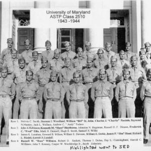 1944 University of Maryland ASTP Class