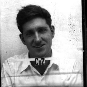 Harold Agnew's Los Alamos ID badge photo