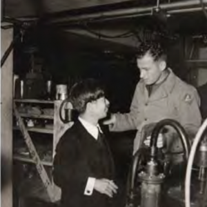 Arakatsu and an American soldier in 1945