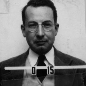 Robert Bacher's Los Alamos ID badge photo