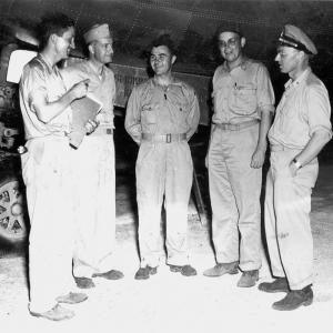 Paul Tibbets with other members of the 509th.