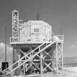 Completed assembly of the TNT tower