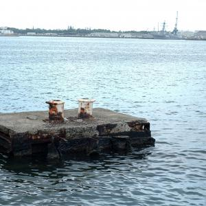 A section of the USS Arizona above the water