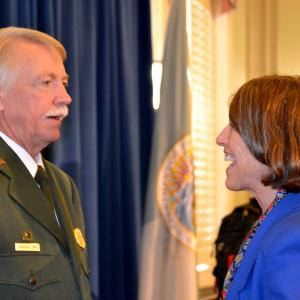 AHF President Cindy Kelly with NPS Director Jonathan Jarvis