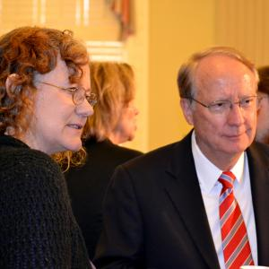 Los Alamos Historical Executive Director Heather McClenahan and Frank Klotz, DOE Undersecretary for the National Nuclear Security Administration