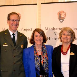 AHF President Cindy Kelly with NPS Associate Directors Victor Knox and Stephanie Toothman