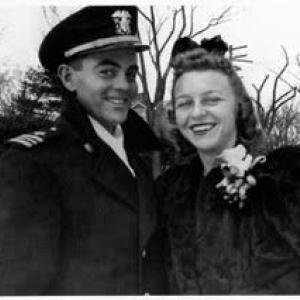 Trisha Pritikin's father and mother, just before their move to Richland in 1947