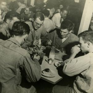 Dinner with friends during the Manhattan Project
