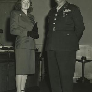 Donna Reed and Leslie Groves. Photo courtesy of the Patricia Cox Owen Collection.