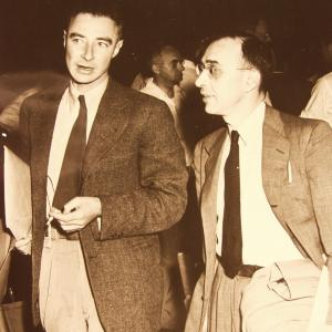 J. Robert Oppenheimer and Gregory Breit.