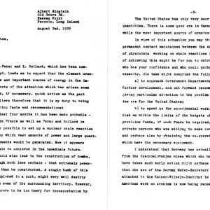 The Einstein-Szilard Letter