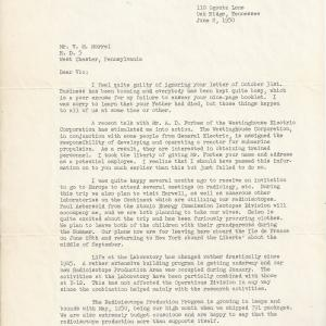 1950 letter to Morrel from Logan Emlet (page 1)