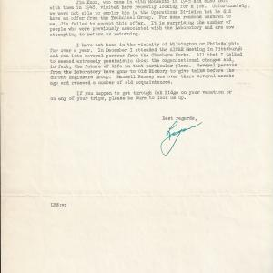 1950 letter to Morrel from Logan Emlet (page 2)