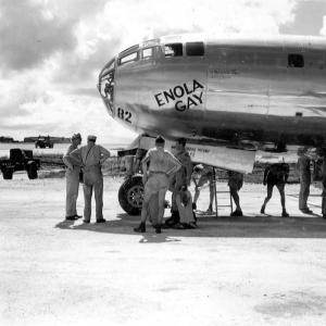 The Enola Gay on August 5, 1945