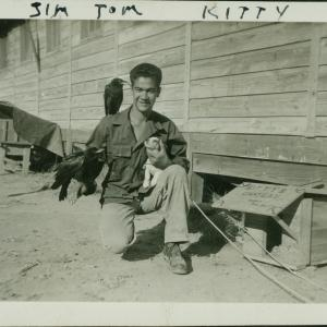 Felix DePaula with a dog and crows. Photograph courtesy of Willie Atencio and David Schiferl.