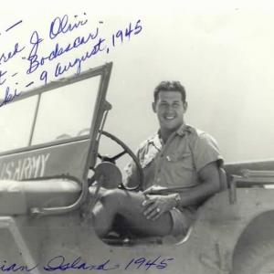 Fred Olivi on Tinian. Courtesy of the Joseph Papalia Collection.