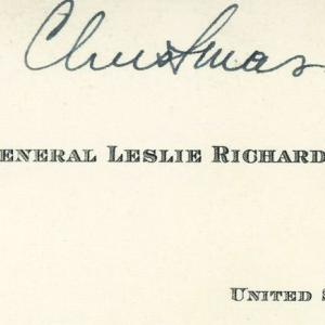 Christmas note from General Groves to Esther