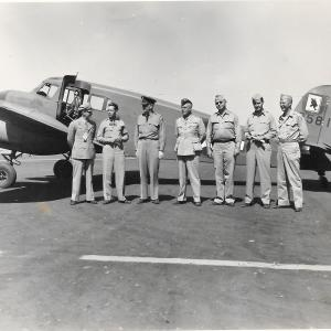 Major Riley (second from right) with other servicemen at Hanford.