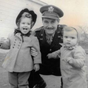 Major Riley with his children.